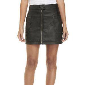 Free People NWT A-Line Faux Leather Mini Skirt NWT